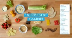 1 Shopping List, 5 Lunches, 1 Hour