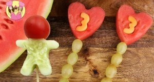 BIRTHDAY FRUIT POPS & VEGGIE MEN –  2 Healthy Recipes by Charli's crafty kitchen